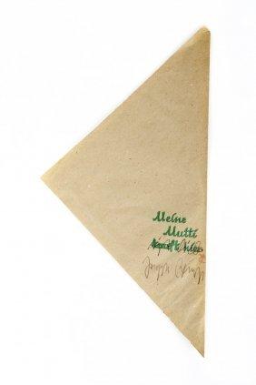Joseph Beuys, Papiert�te 'Meine Mutti Kauft Hier',