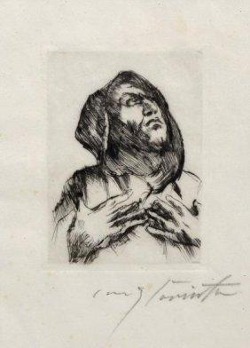 Lovis Corinth, 'M�nch Mit Erhobenem Blick', 1916