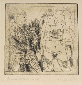 Alfred Hrdlicka, 'Ramon Stellt Martha Zur Rede', 1