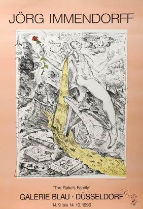 J�rg Immendorff, Ausstellungsplakat, 1996