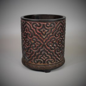 Qing-dynasty Brush Pot