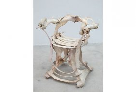 Folkart Sculptural Bone Chair