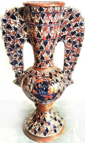 Spanish Mid-19th-c. Majolica Vase Jug
