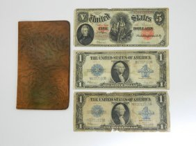 Lot Of Two 1923 One Dollar Silver Certificates And A