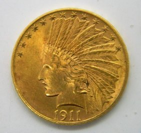 1911 Indian Head Ten Dollar Gold Coin