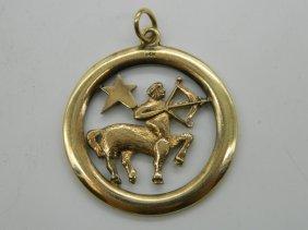 14k Yellow Gold Centaur Pendant
