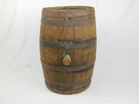 Prohibition Era Uc St. Louis Wooden Whiskey Barrel