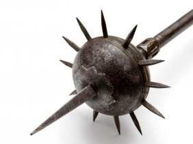 """Very Nice Early Indian """"gurz"""" Mace Weapon, 17th-18th C."""