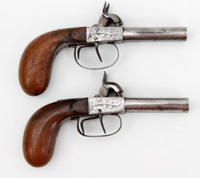 Pair Of 19th C. European Percussion Pistols