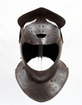 "Rare 17th C. Italian ""savoyard"" Closed Helmet"