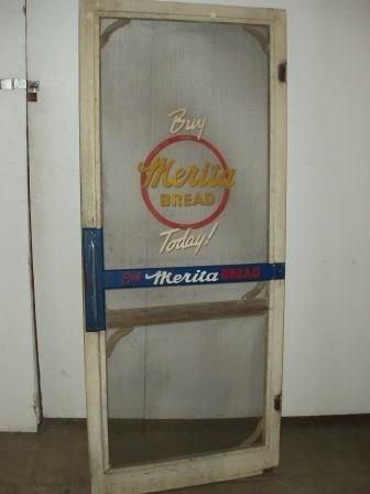 vintage screen door push bar  1