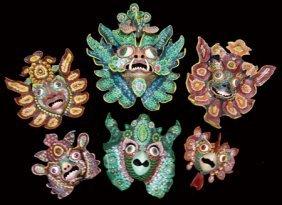 6 Peruvian Masks