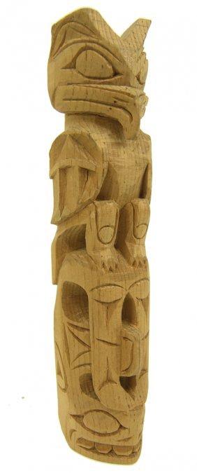 Northwest Coast Model Totem Pole - Robert Ball