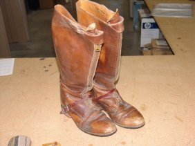 Antique Boots And Spurs