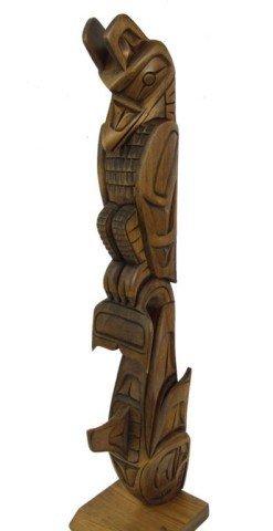 Northwest Coast Model Totem Pole - Gordon Clayton