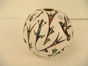 Acoma Pottery Seed Jar - P. Iule