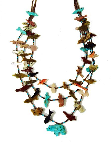 Zuni Fetish Necklace 102
