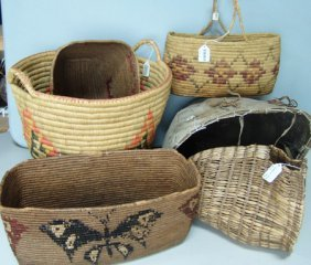 6 Large Indian Baskets