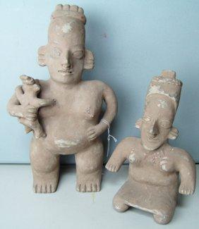 2 Colima Pottery Figures