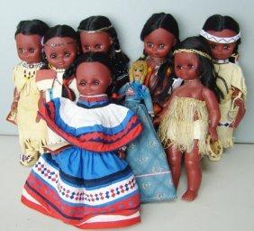 8 Indian Dolls