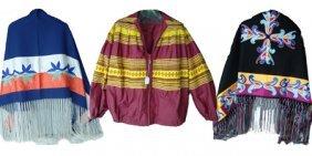 Shawls, Coat And Buckskin Pants