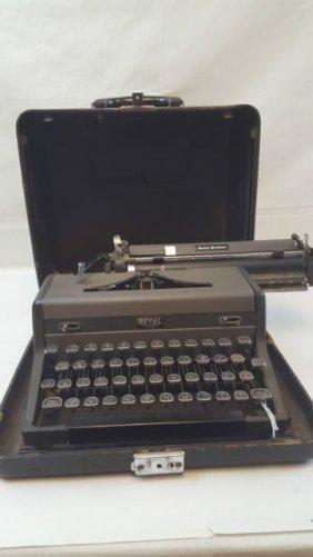 Vintage Royal Protable Typewriter