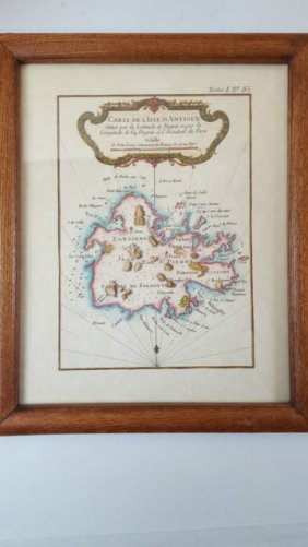 Carte De L'isle D'antigue