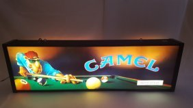 Joe Camel Cigarettes 2 Sided Lighted Bar Sign