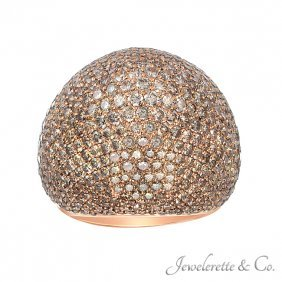 Fancy Colored Micro Pave Dome Ring