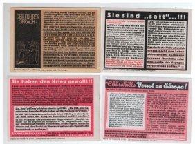 Four Nazi Propaganda Stickers, Germany, 1942