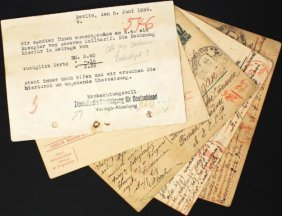 Second World War - Postcards Sent By Post By Jews