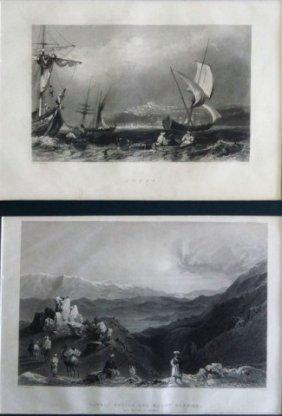 9 Black-and-white Engravings - Willian Henry Bartlett