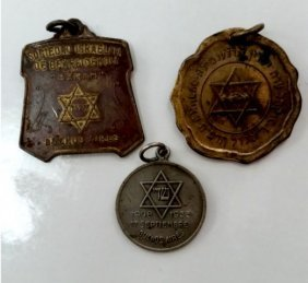 Three Early Jewish Medals - Argentine - Most Rare