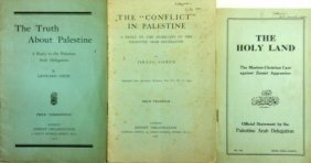 Four Rare Booklets Related To The Arabic-palestinian