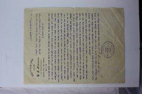Letter By Rabbi Yitzchak Ya'akov Reines Av Beit Din Of