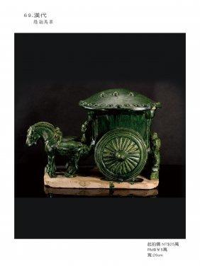 Han, Green Glazed A Figure Of Carriage.