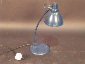A MODERN DESK LAMP, PAINTED BY 'SYD'