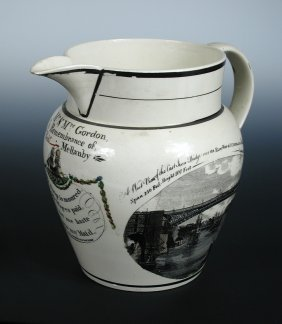 A 'Phillips & Co Sunderland Pottery' Cream Ware Jug