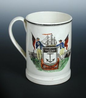 An Early 19th Century Creamware Mug, Possibly Dixon Aus