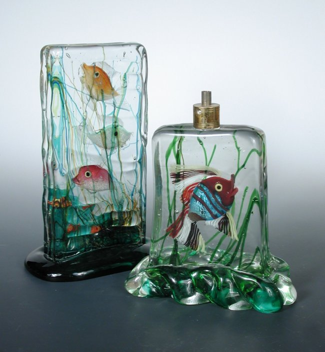 attributed to gino cenedese a murano glass aquarium lot 211. Black Bedroom Furniture Sets. Home Design Ideas