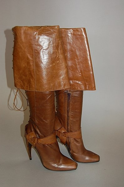 Brown Thigh High Boots