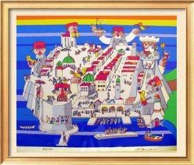 Dubrovnik City Scene Obican Whimsy Ltd Ed Sale