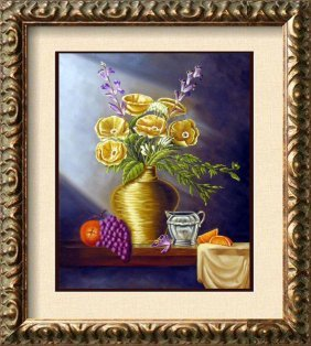 Rare Still Life Shepherd Oil On Canvas Rare Sale