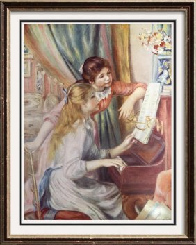 Pierre Auguste Renoir Two Girls At The Piano C.1893