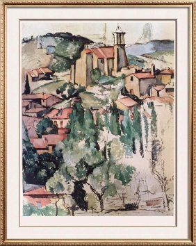 Paul Cezanne View Of Gardanne C.1885 Fine Art Print