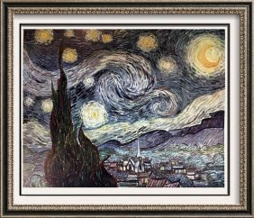 Vincent Van Gogh The Starry Night C.1889 Fine Art Print