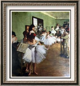 Edgar-hilaire-germain Degas The Dancing Class C.1876