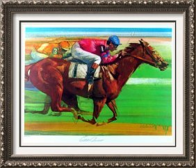 Eddie Arcaro Horse Race Limited Edition Signed