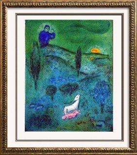 Lamb Of God Marc Chagall Original Colored Lithograph