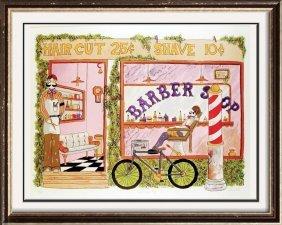 Barber Shop Nostalgia Art Ltd Ed Signed Sale